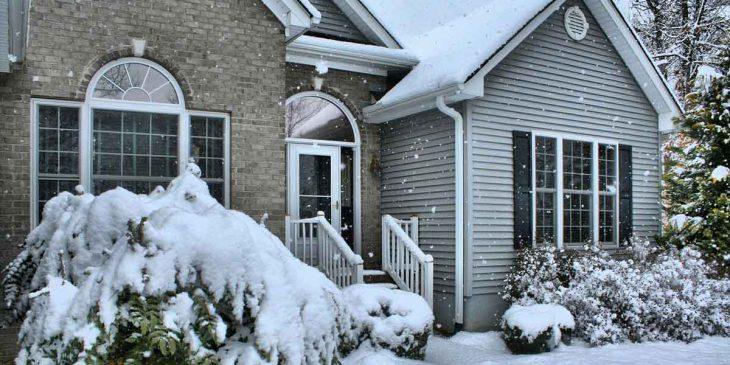 Haus winterfest machen